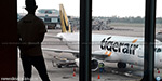 The Singapore aircraft returned to to Chennai: For Bad weather in Trichy