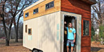 Student Joel Weber builds his own tiny house to avoid debt