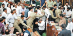 Uproar in Kashmir conflict between the house of Assembly