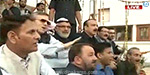 Kashmir National Conference party MLAs protest before Assembly