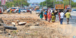 Pallikaranai service road in the city of occupation: the people demand reform