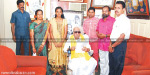 3rd-ranked student in grade 10,  received a greeting from Karunanidhi