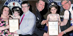 Four-year-old girl awarded to makes life-saving 999 call after her mother collapses