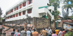 due to heavy rain electric box fell on the school of 50 students survived in Kumari