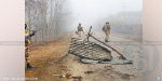 India and Pakistan in retaliation for encroachment on the border gun battle that lasted throughout the night