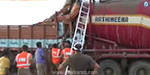 Collision of two trucks near Tirunelveli: 3 hours after the battle alive rescue driver
