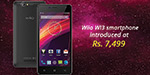 Wiio WI3 smartphone at the price of Rs .7,499