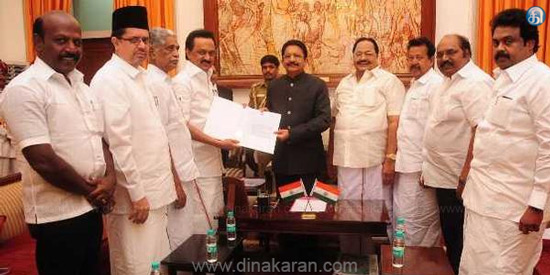 MLAs bargain issue: Governor orders action on Stalin's complaint