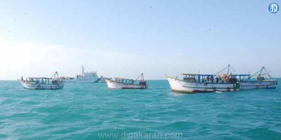 Fishermen fishing beyond the limit of 4 people arrested by Sri Lankan Navy