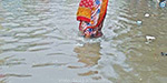 People in panic with rainwater sewage reservoir of infection in Tondiarpe
