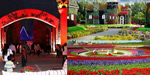 Tourists accumulated huge flower park in Dubai