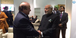 PM Narendra Modi meets Pak PM Nawaz Sharif at COP 21 in Paris