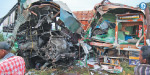 Bus-truck collision: 3 people crushed to death