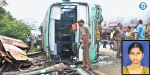 bus accident Death college student; 19 injured