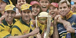 The jubilant Australian team with the World Cup.