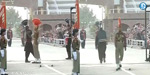 Wagah border participation in the parade for the first time female soldiers