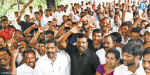 Participation in the United Nations condemning Rajabakshe VCK chief Thirumavalavan demonstrated in