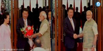 Warmwelcome to the Chinese President in Ahmedabad