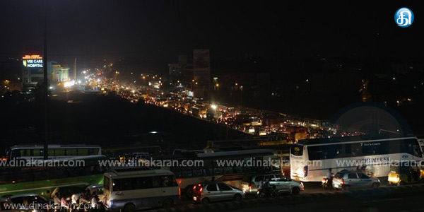 Traffic congestion around Koyambedu