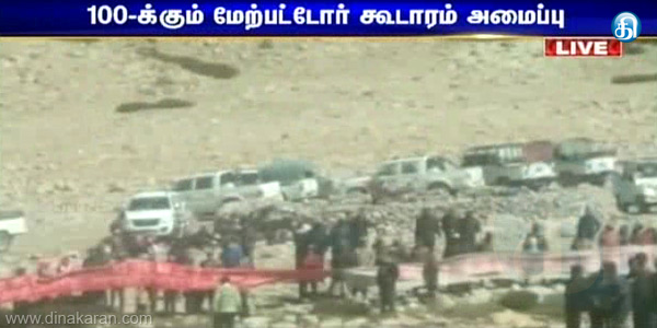 Chinese army in Ladakh, more than 100 tents set up tension