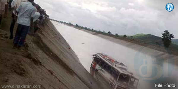 bus falls into river in Assam : 9 dead