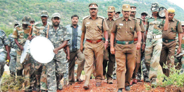 From Andhra Pradesh Elephant Horde Unable to chase stutter