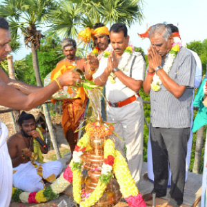The Moolanathar Temple in the village of Samantham is consecrated