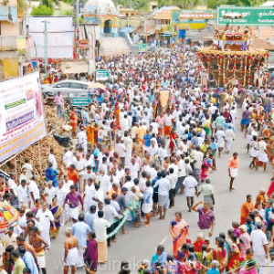The new chariot of the Ayyappar Temple in Thiruvaiyar