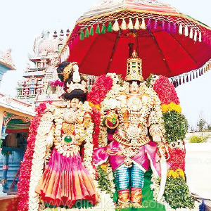 On the 6th day of the Parthasarathy Perumal temple in the scenery near Sirkazhi