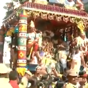 Mankani Festival in Karaikal: Pilgrims are honored with Manganese