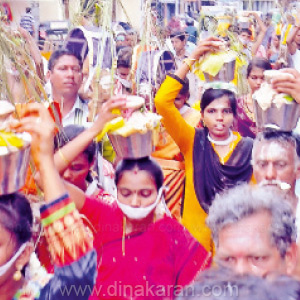 Devotees worship Kavadi to Lord Swamimalai Murugan Temple for the benefit of the world