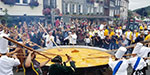 Giant omelette made with 10,000 eggs served at Belgium Festival