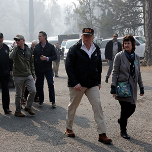 Trump traveled to California's wildfires