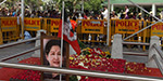 3rd day of the memorial to pay tribute to the late former Chief Minister Jayalalithaa, the accumulation of people