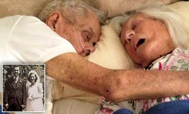 Husband and wife who were married for 75 years and died just hours apart as they held hands in bed