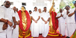48th Anniversary Celebration of AIADMK: EPS and OPS courtesy of MGR and Jayalalithaa