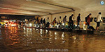 The rainfall in Bangalore: the nature of people's lives are severely affected