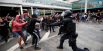 Clashes erupt as Catalan separatists protest sentences for leaders
