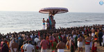 The photos of the Theerthivari show at the Marina beach for Maasi Magam