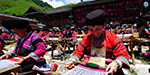 Yearly Drying Clothing festival in China: Women who highlight traditional outfits
