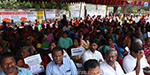 Fishermen protest against Tamil Nadu government in Chennai