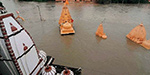 Heavy rain continuing in north India : river flooding across the perilous stage