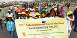 The rally was held to raise awareness of the International Deaf Day