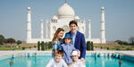 Canadian Prime Minister Justin Trutto arrives in India with family members