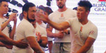 Kyrgyzstan slapping competition sees men attack each other for prize money