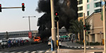A fire broke out near the metro station in Dubai