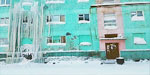 The town was turned into an ice-block: Water pipes burst during storm at -40C