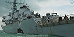 US warship collides with oil tanker near Singapore; 10 sailors missing