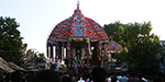 The world's famouse Thiruvarurchariot started as a massive procession ... the festival is in Tiruvarur