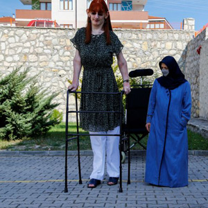 7 feet 7 inches tall Rumesa Kelki from Turkey has been selected as the tallest woman in the world !!